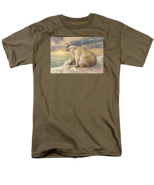 Polar Bear Rests On The Ice - Arctic Alaska Men's T-Shirt  (Regular Fit) by Svitozar Nenyuk
