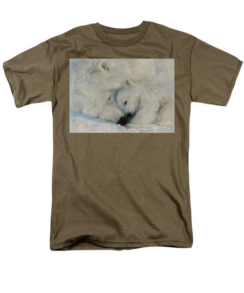 Men's T-Shirt  (Regular Fit) featuring the drawing Polar Snuggle by Meagan  Visser