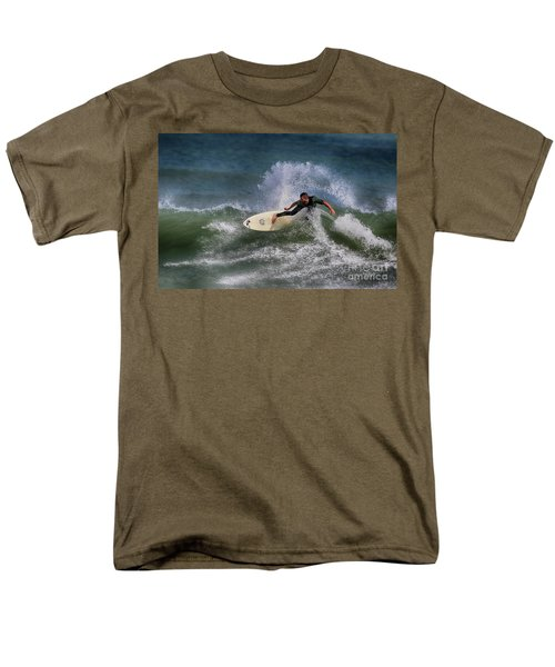 Men's T-Shirt  (Regular Fit) featuring the photograph Ponce Surfer 2017 by Deborah Benoit