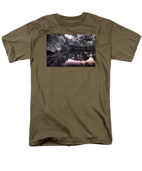Men's T-Shirt  (Regular Fit) featuring the photograph Pondside Dusk by William Fields