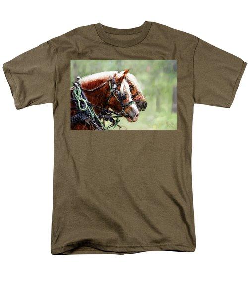 Ponies In Harness Men's T-Shirt  (Regular Fit) by Debra Baldwin