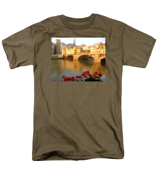 Ponte Vecchio In Florence Men's T-Shirt  (Regular Fit) by Lisa Boyd