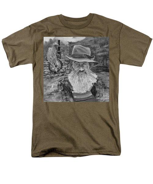 Popcorn Sutton - Black And White - Rocket Fuel Men's T-Shirt  (Regular Fit)
