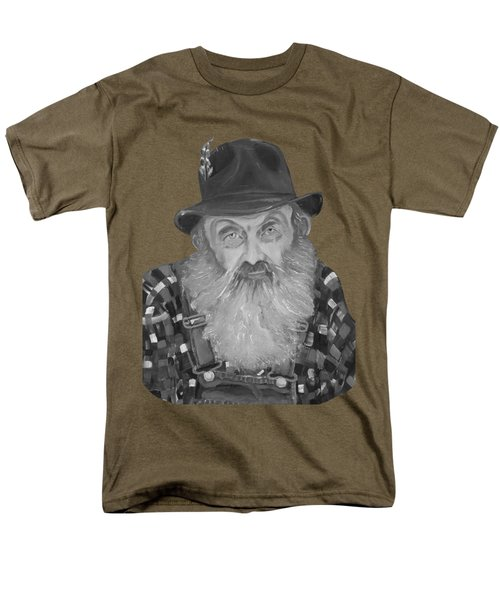 Popcorn Sutton Moonshiner Bust - T-shirt Transparent B And  W Men's T-Shirt  (Regular Fit) by Jan Dappen