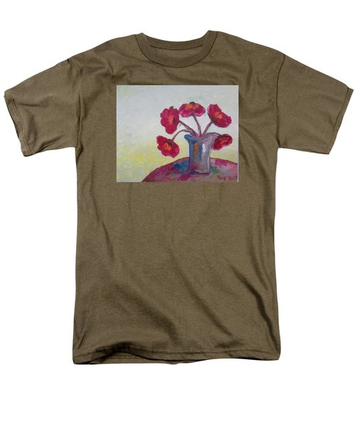 Poppies In A Vase Men's T-Shirt  (Regular Fit) by Roxy Rich