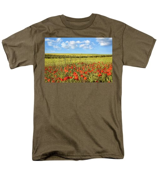 Men's T-Shirt  (Regular Fit) featuring the photograph Poppy Fields by Marion McCristall