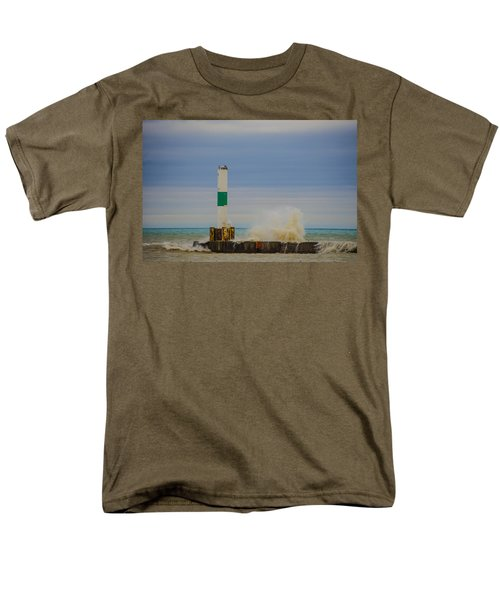 Men's T-Shirt  (Regular Fit) featuring the photograph Port Washington Light 2 by Deborah Smolinske