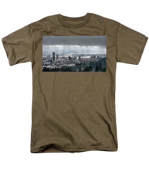 Portland After A Morning Rain Men's T-Shirt  (Regular Fit) by Don Schwartz