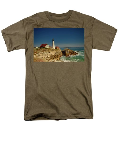 Portland Head Lighthouse 2 Men's T-Shirt  (Regular Fit) by Sherman Perry