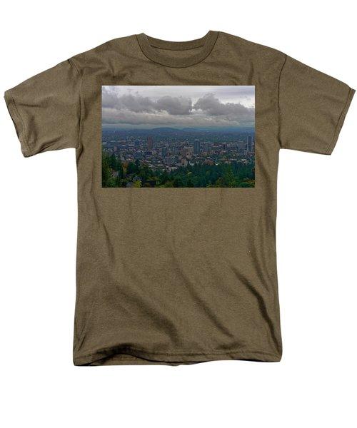 Portland Overlook Men's T-Shirt  (Regular Fit) by Jonathan Davison