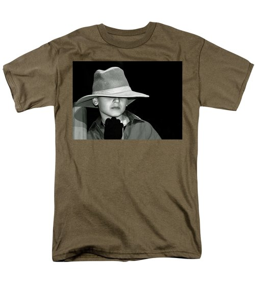 Portrait Of A Boy With A Hat Men's T-Shirt  (Regular Fit) by Alex Galkin