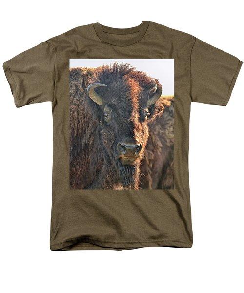 Portrait Of A Buffalo Men's T-Shirt  (Regular Fit) by Nancy Landry