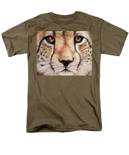 Portrait Of A Cheetah Men's T-Shirt  (Regular Fit) by Heidi Kriel