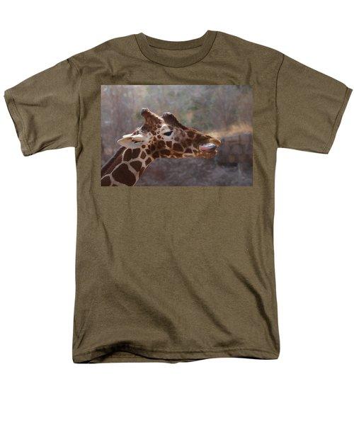 Men's T-Shirt  (Regular Fit) featuring the digital art Portrait Of A Giraffe by Ernie Echols