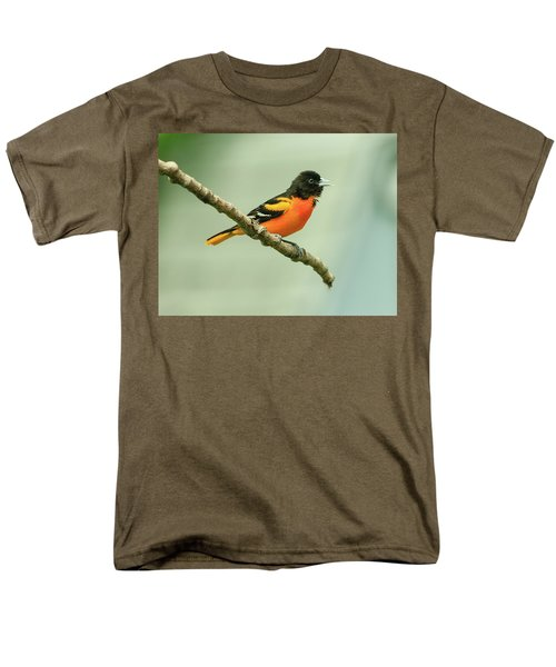 Portrait Of A Singing Baltimore Oriole Men's T-Shirt  (Regular Fit) by Joni Eskridge