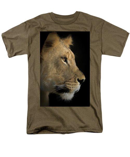Men's T-Shirt  (Regular Fit) featuring the digital art Portrait Of A Young Lion by Ernie Echols
