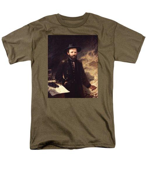 Portrait Of Ulysses S. Grant Men's T-Shirt  (Regular Fit) by Ole Peter Hansen Balling
