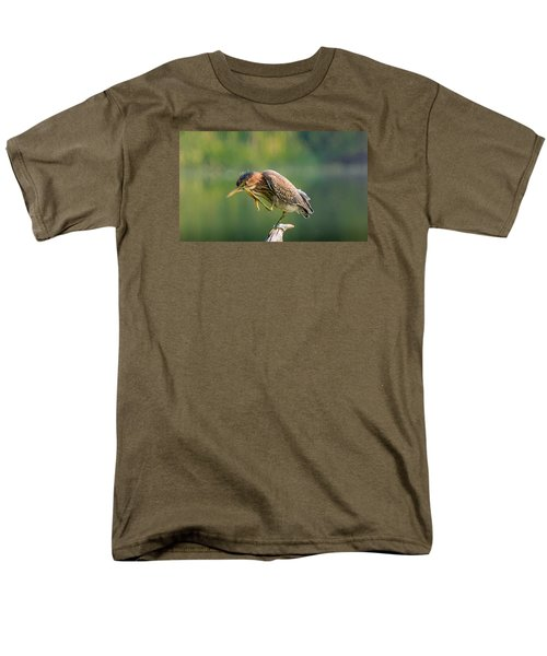Posing Heron Men's T-Shirt  (Regular Fit) by Jerry Cahill