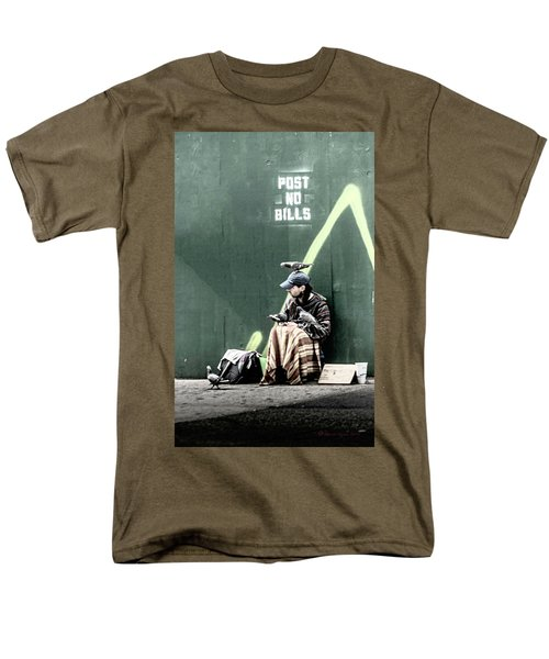 Men's T-Shirt  (Regular Fit) featuring the photograph Post No Bills by Marvin Spates