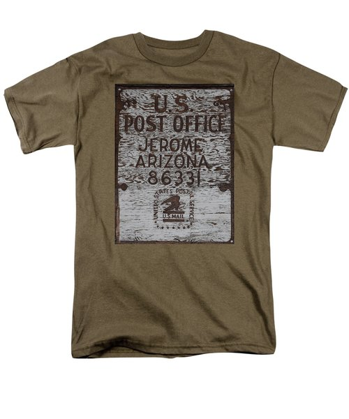 Men's T-Shirt  (Regular Fit) featuring the photograph Post Office Jerome - Arizona by Dany Lison
