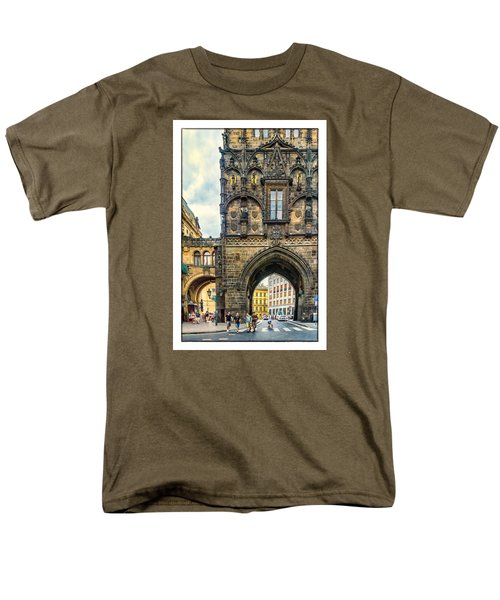 Men's T-Shirt  (Regular Fit) featuring the photograph Prague Powder Tower  by Janis Knight