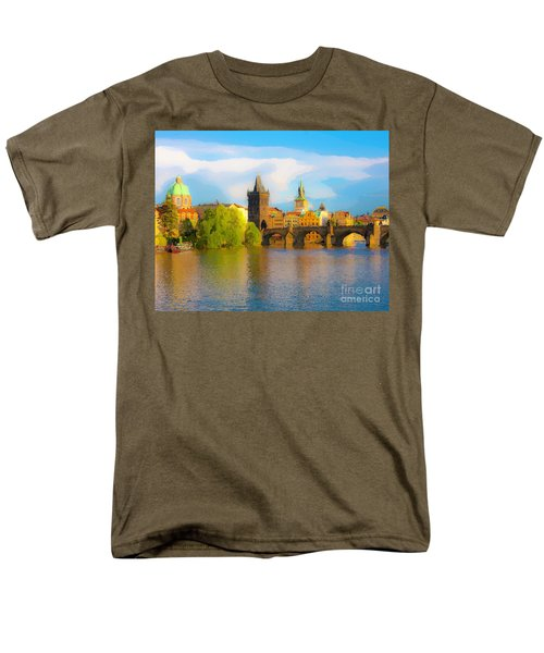 Praha - Prague - Illusions Men's T-Shirt  (Regular Fit) by Tom Cameron