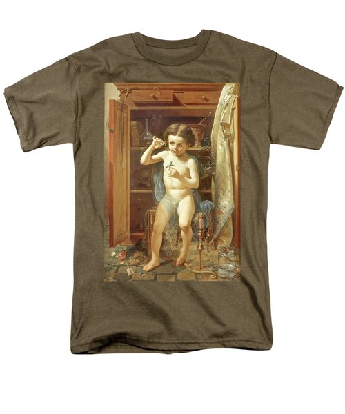 Men's T-Shirt  (Regular Fit) featuring the painting Pranks Of Love by Manuel Ocaranza