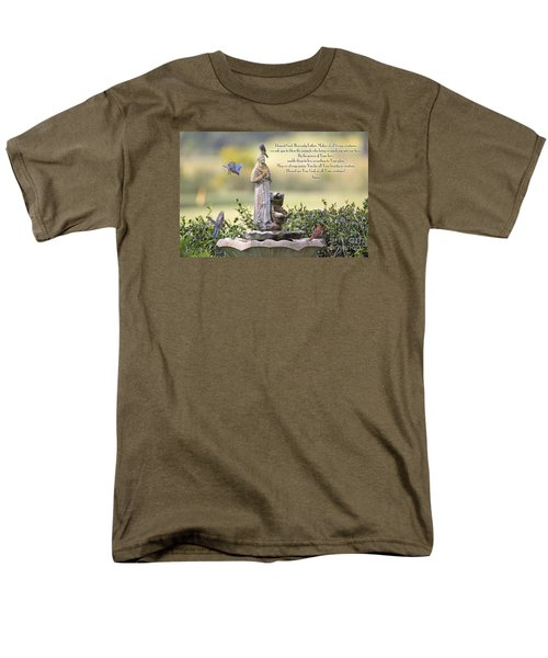 Prayer For The Animals That Bless Our Lives Men's T-Shirt  (Regular Fit) by Bonnie Barry