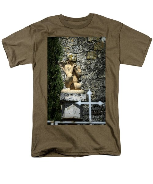 Praying Angel In Auvillar Cemetery Men's T-Shirt  (Regular Fit) by RicardMN Photography