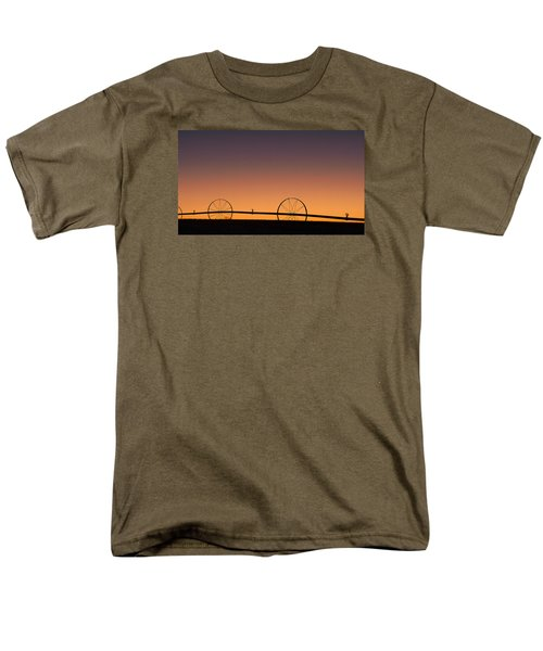 Men's T-Shirt  (Regular Fit) featuring the photograph Pre-dawn Orange Sky by Monte Stevens