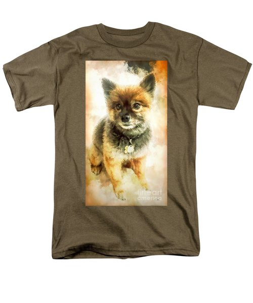 Precious Pomeranian Men's T-Shirt  (Regular Fit) by Tina LeCour