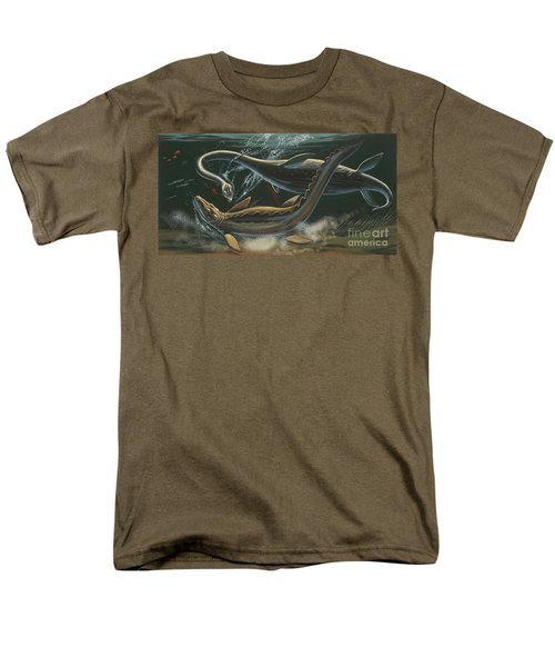 Prehistoric Marine Animals, Underwater View Men's T-Shirt  (Regular Fit) by American School