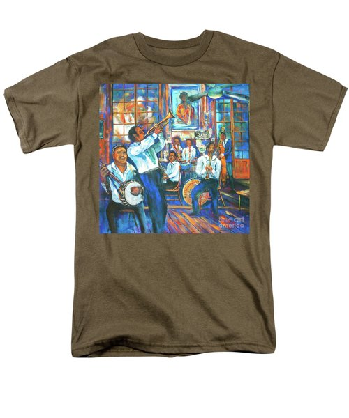 Men's T-Shirt  (Regular Fit) featuring the painting Preservation Jazz by Dianne Parks