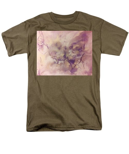 Men's T-Shirt  (Regular Fit) featuring the painting President Trump by Raymond Doward