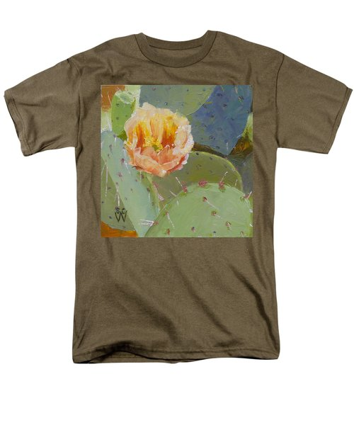 Prickly Pear Blossom Men's T-Shirt  (Regular Fit) by Susan Woodward