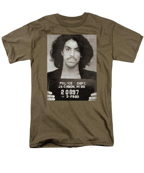 Prince Mug Shot Vertical Men's T-Shirt  (Regular Fit) by Tony Rubino