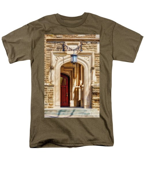 Men's T-Shirt  (Regular Fit) featuring the photograph Princeton University 1901 Laughlin Hall by Susan Candelario