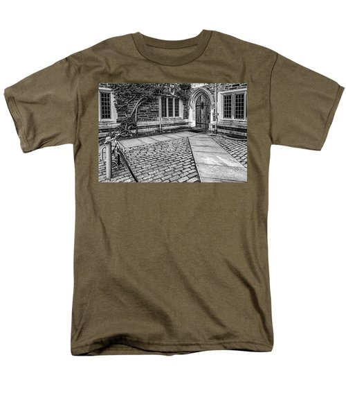 Men's T-Shirt  (Regular Fit) featuring the photograph Princeton University Foulke Hall Bw by Susan Candelario