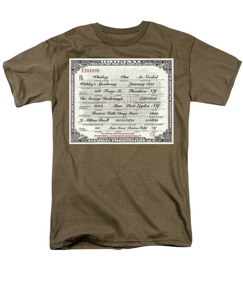 Men's T-Shirt  (Regular Fit) featuring the photograph Prohibition Prescription Certificate Speakeasy by David Patterson