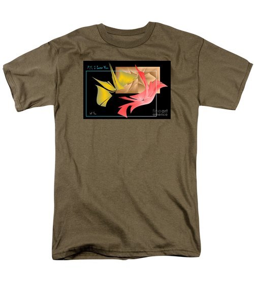 Men's T-Shirt  (Regular Fit) featuring the photograph P.s. I Love You by Leo Symon