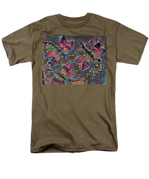 Psychedelic Dragons Men's T-Shirt  (Regular Fit) by Megan Walsh