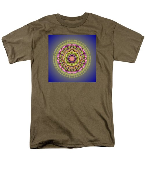 Psychedelic Mandala 001 A Men's T-Shirt  (Regular Fit) by Larry Capra