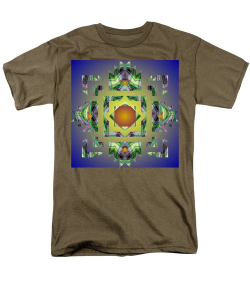 Psychedelic Mandala 002 A Men's T-Shirt  (Regular Fit) by Larry Capra