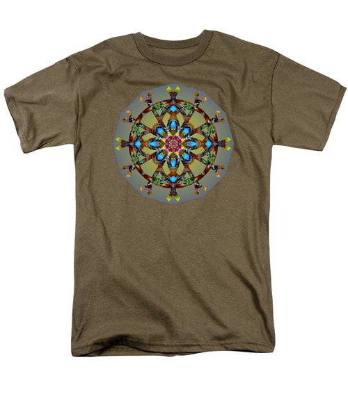 Psychedelic Mandala 010 B Men's T-Shirt  (Regular Fit) by Larry Capra