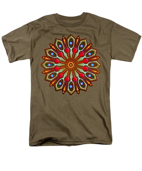 Psychedelic Mandala 012 A Men's T-Shirt  (Regular Fit) by Larry Capra