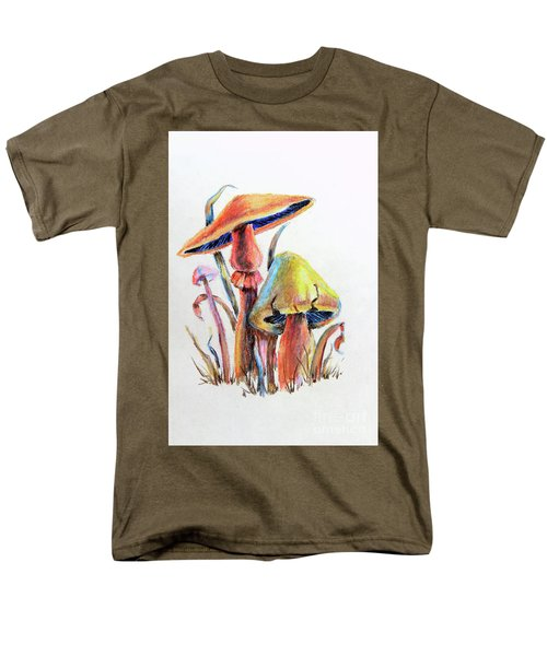 Psychedelic Mushrooms Men's T-Shirt  (Regular Fit) by Pattie Calfy