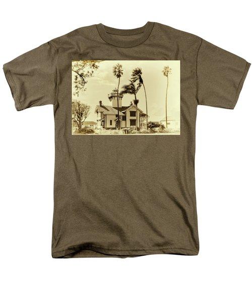 Pt. Fermin Lighthouse Men's T-Shirt  (Regular Fit) by Joseph Hollingsworth