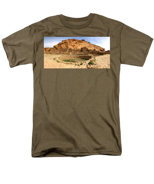 Men's T-Shirt  (Regular Fit) featuring the photograph Pueblo Bonito Kiva Ruins by Adam Jewell