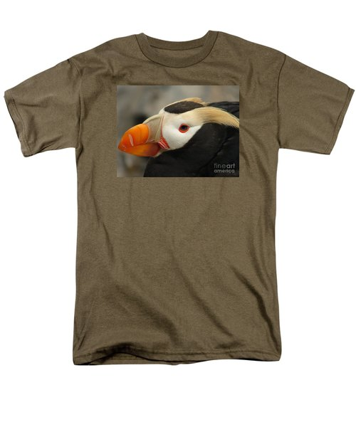 Puffin Portrait Men's T-Shirt  (Regular Fit) by Lew Davis