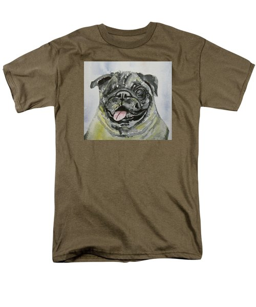 One Eyed Pug Portrait Men's T-Shirt  (Regular Fit)